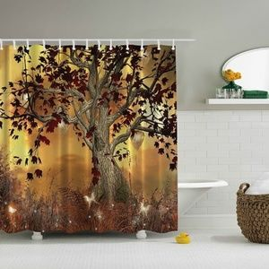 Shower Curtain Enchanted Tree Nature Print